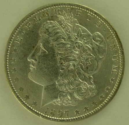 click for larger picture of 1897 Morgan Dollar