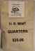 2001 P Vermont Quarter Mint Sewn Coin Bag $25