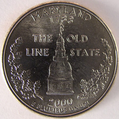 click for larger picture of 2000 P Maryland State Quarter