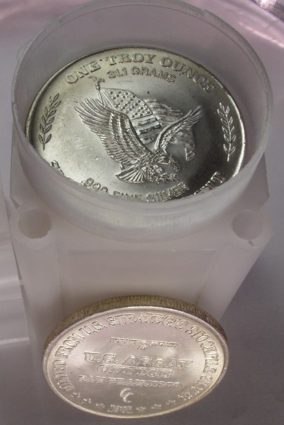 click for larger picture of Roll of silver rounds