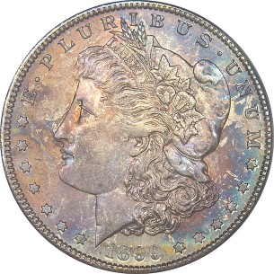 click for larger picture of 1899 S Morgan Dollar