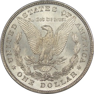 click for larger picture of 1878 Morgan Dollar 8 Tail feathers (8TF)