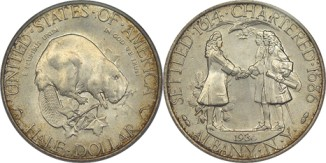 click for larger picture of 1936 Albany, New York Charter Commemorative Half Dollar