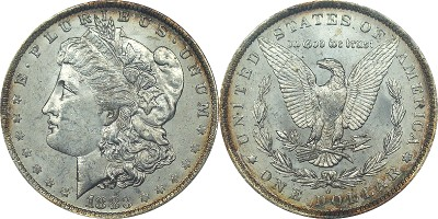 click for larger picture of 1883 O Morgan Dollar