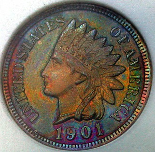 click for larger picture of 1902 Indian Head Cent Brown