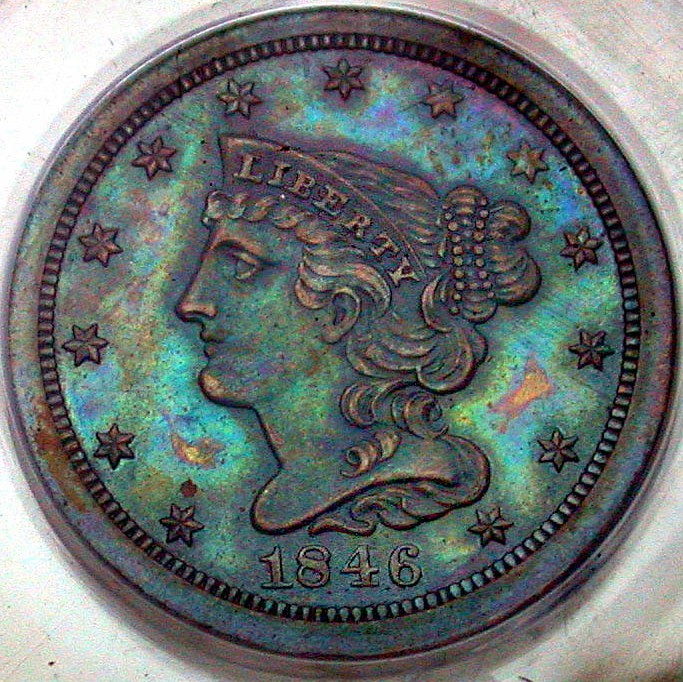 1846 Coronet Half Cent Proof Restrike