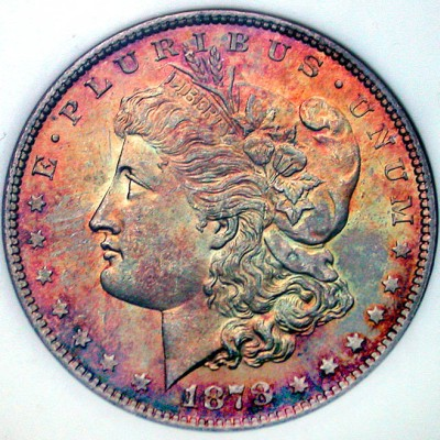 click for larger picture of 1878 Morgan Dollar 7/8 Tail feathers (7/8TF)