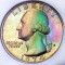 1974 S Washington Quarter Dollar Proof Toned