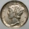 1944 Mercury Dime Broad Struck Error