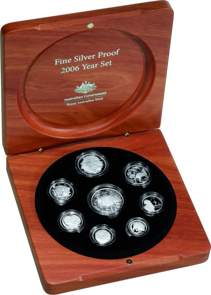 click for larger picture of 2006 Australian Silver Proof Set