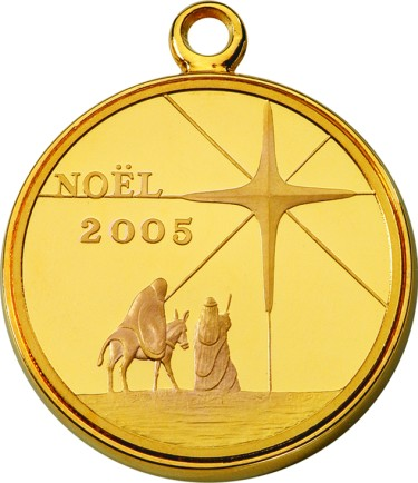 click for larger picture of 2005 Royal Australian Mint Christmas Medallion