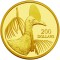 2004 Australian Gold Proof 200 Dollars - Rare and endangered bird Cassoway