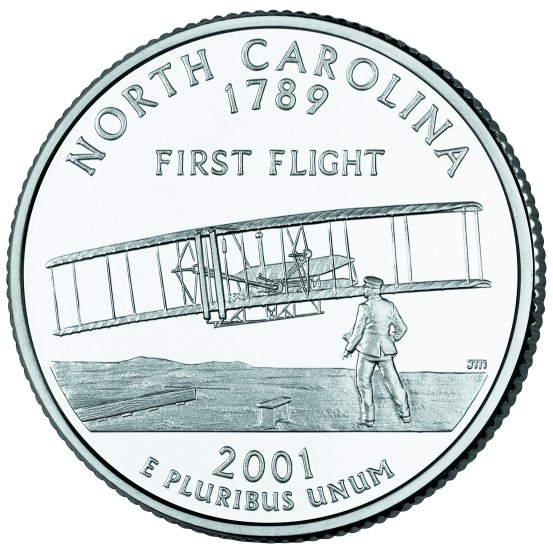 click for larger picture of 2001 P North Carolina State Quarter