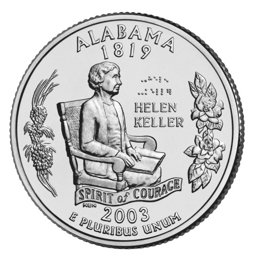 click for larger picture of 2003 P Alabama State Quarter
