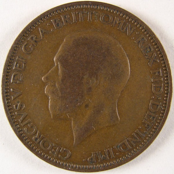 click for larger picture of 1935 Great Britain Half Penny