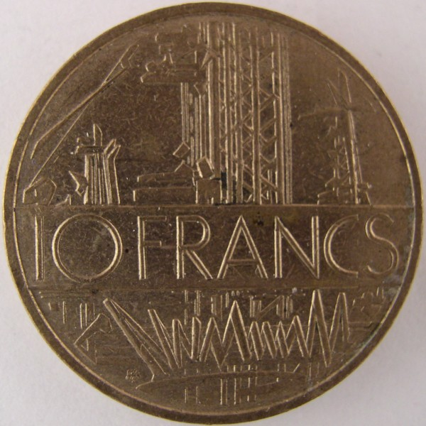 click for larger picture of 1978 France 10 Francs