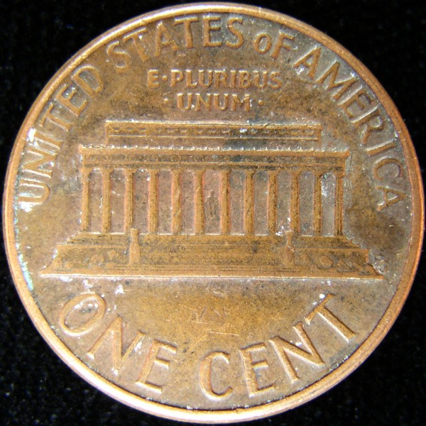 click for larger picture of 1974 D Lincoln Cent
