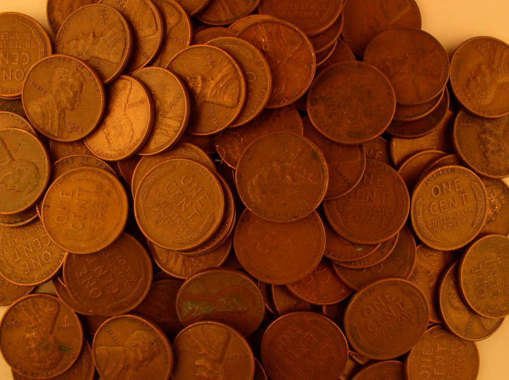 click for larger picture of Lincoln Cents