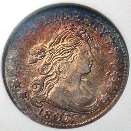 click for larger picture of 1807 Draped Bust Dime