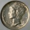 1944 S Mercury Dime Broad Struck Error