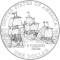 2007 Jamestown 400th Anniversary Commemorative Silver Dollar (line art design)