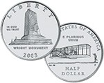2003 P First Flight Centennial Commemorative Clad Half Dollar Uncirculated