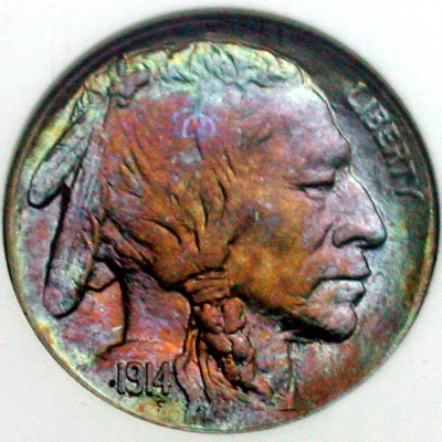 click for larger picture of 1914 Buffalo Nickel