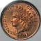 1891 Indian Head Cent Red
