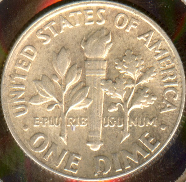 click for larger picture of 1964 Roosevelt Dime