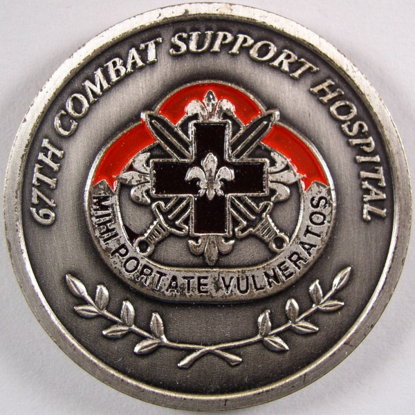 click for larger picture of 67th Combat Support Hospital, Wuerzburg Germany Challenge Coin