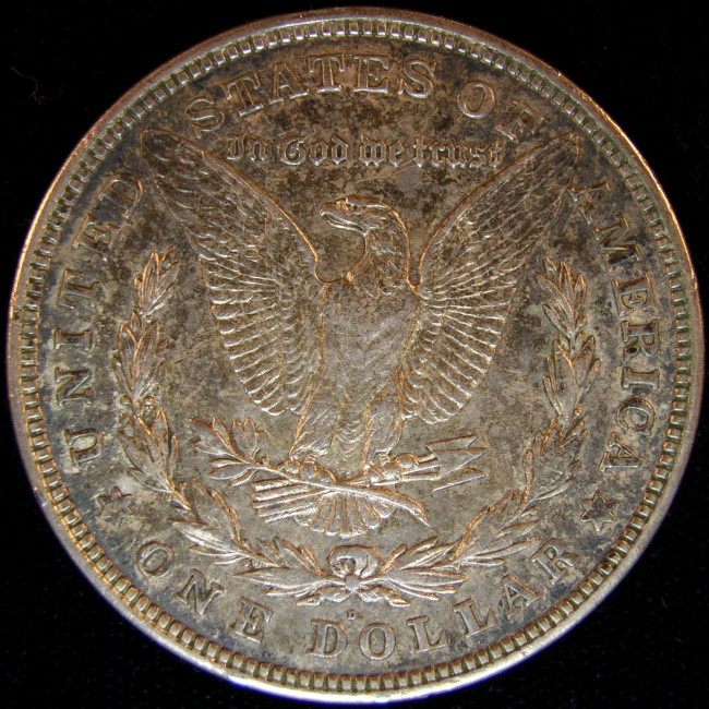 click for larger picture of 1921 D Morgan Dollar