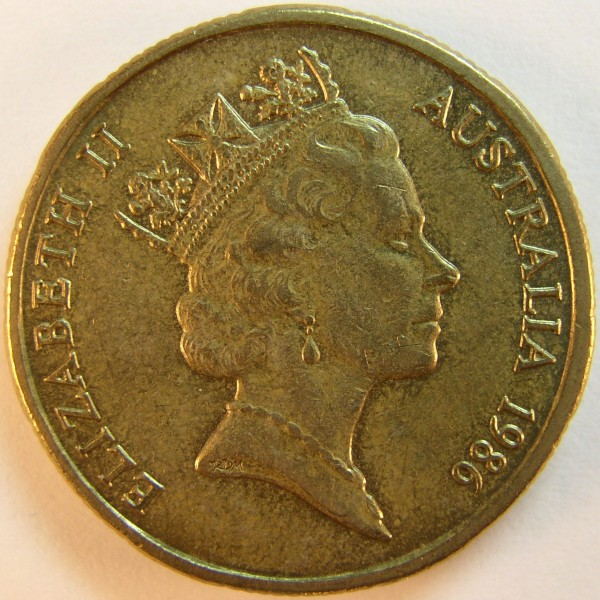 click for larger picture of 1986 Australia Dollar International Year of Peace