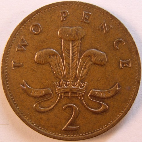 click for larger picture of 1990 Great Britain 2 Pence