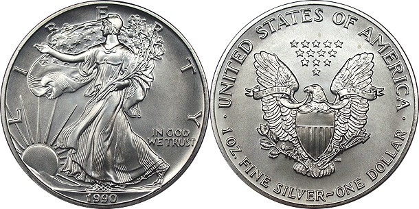 1990 American Silver Eagle Uncirculated 1oz