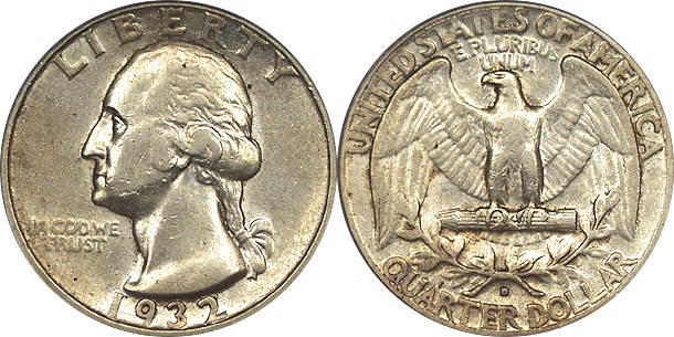 1932 D Washington Quarter Dollar