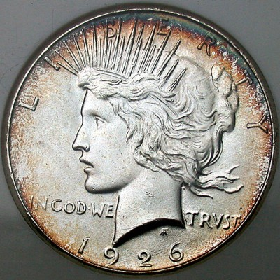 click for larger picture of 1926 S Peace Dollar
