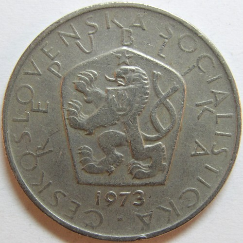 click for larger picture of 1973 Czechoslovakia 5 Korun