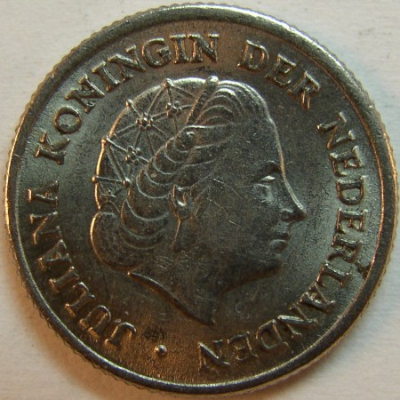 click for larger picture of 1951 Netherlands 10 Cents