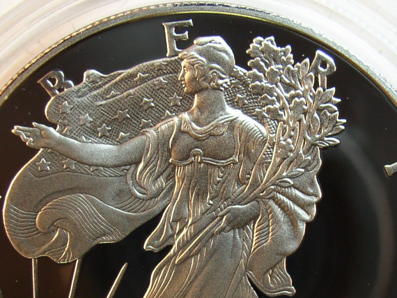 click for larger picture of 2000 P American Silver Eagle Proof