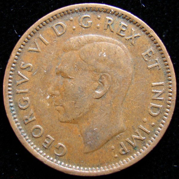 click for larger picture of 1945 Canada Cent