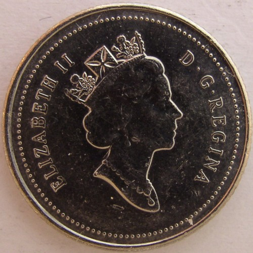 click for larger picture of 1995 Canada 10 Cents