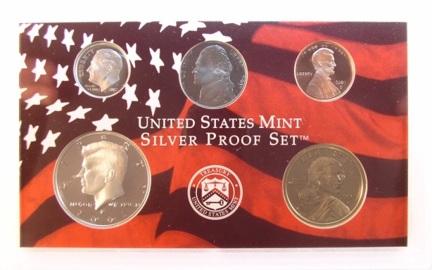 click for larger picture of 2002 S Silver Proof Set (10 coin)