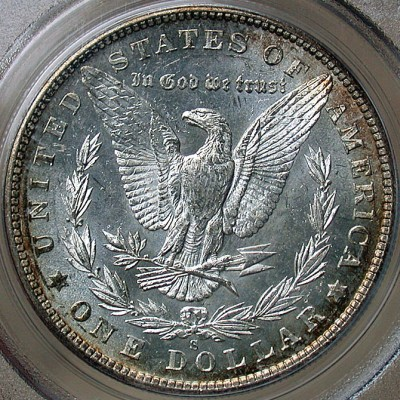 click for larger picture of 1900 S Morgan Dollar