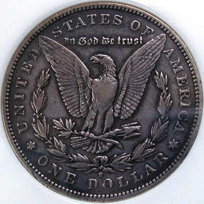 click for larger picture of 1892 S Morgan Dollar