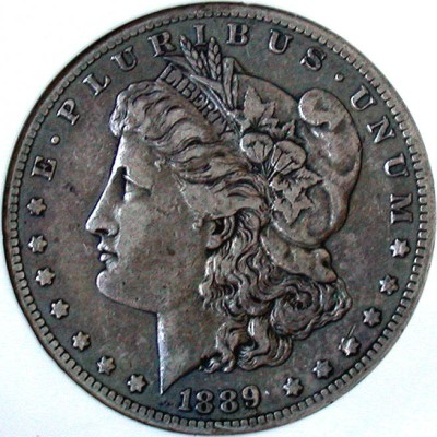 click for larger picture of 1889 CC Morgan Dollar