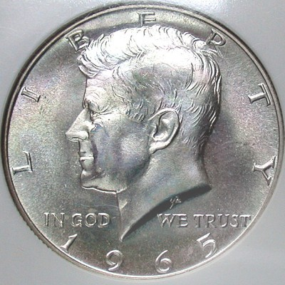 click for larger picture of 1965 SMS Kennedy Half Dollar
