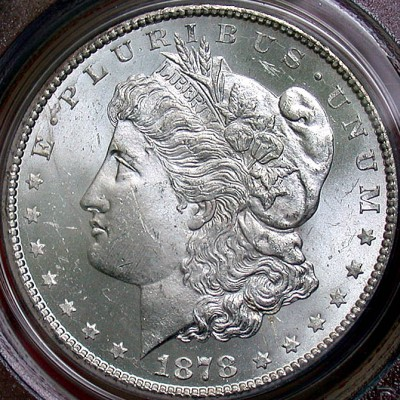 click for larger picture of 1878 CC Morgan Dollar