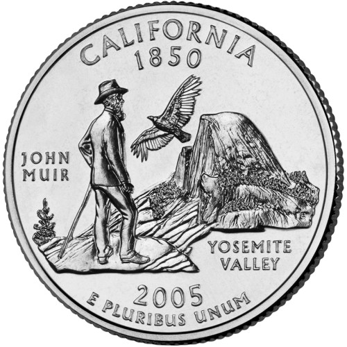 click for larger picture of 2005 P California State Quarter Dollar