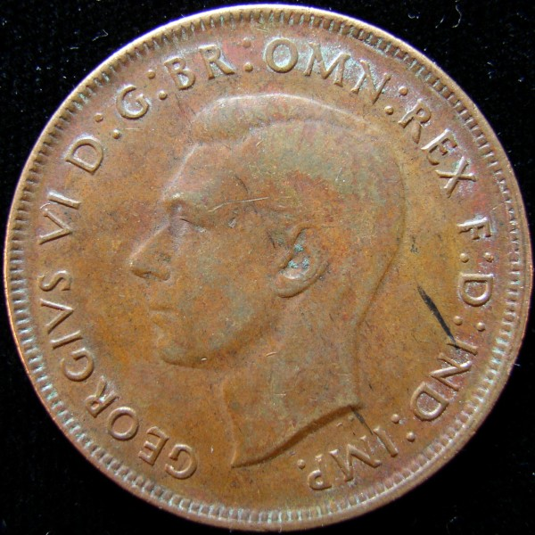click for larger picture of 1944 Australia Penny