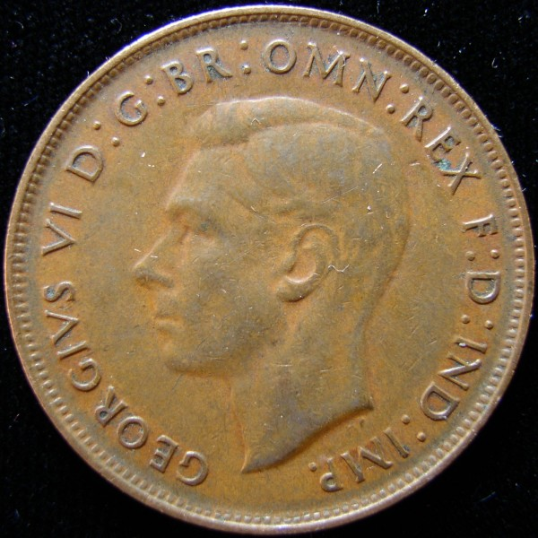 click for larger picture of 1948 Australia Penny